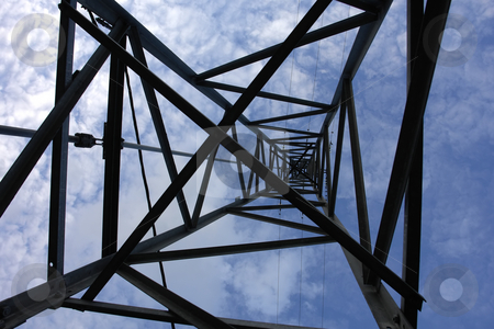 Energy stock photo, Big electric pole, a view from the bottom by Rui Vale de Sousa