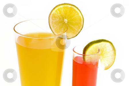 Juice stock photo, A glass of orange juice with cut fruits by Rui Vale de Sousa