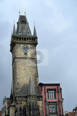 Church stock photo, Ancient church tower in prague old town by Rui Vale de Sousa