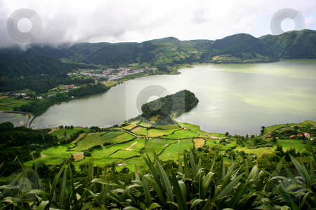 Lake stock photo, Seven lake city in azores island of s miguel by Rui Vale de Sousa