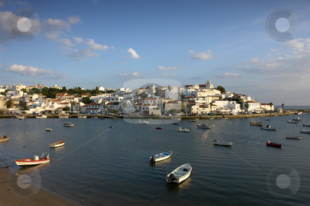 Ferragudo stock photo, Small town of Ferragudo in the south of Portugal by Rui Vale de Sousa