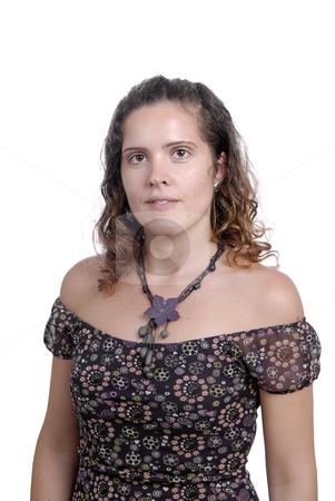 Beautiful stock photo, Beautiful young woman posing in white background by Rui Vale de Sousa