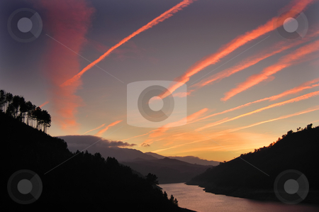 Sunset stock photo, Sunset on the river by Rui Vale de Sousa