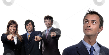 Team stock photo, Young business team isolated on white background by Rui Vale de Sousa