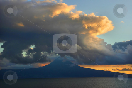 Pico island stock photo, Sunset on pico island by Rui Vale de Sousa