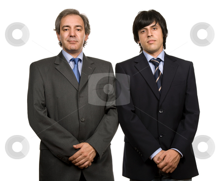 Business men stock photo, Two young business men portrait, isolated on white by Rui Vale de Sousa