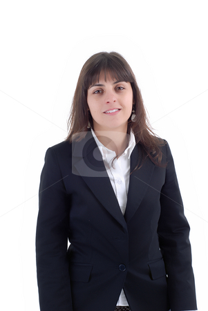 Businesswoman stock photo, Young business woman portrait in white background by Rui Vale de Sousa