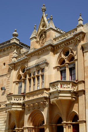 Architecture stock photo, Gothic Architecture on medieval palace in island of Malta by Rui Vale de Sousa