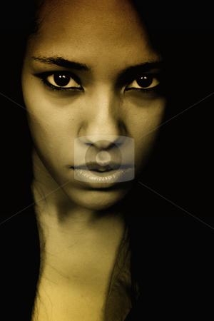 Girl stock photo, Young beautiful woman closeup portrait, toned by Rui Vale de Sousa