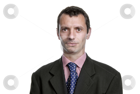 Looking stock photo, Young business men portrait isolated on white by Rui Vale de Sousa