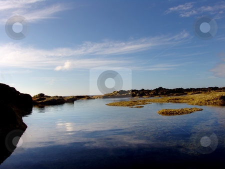 Mirror stock photo, Seaside waters by Rui Vale de Sousa