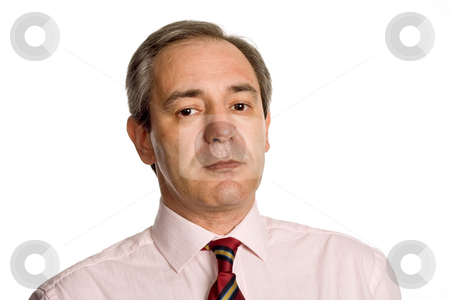 Portrait stock photo, Mature business man portrait in white background by Rui Vale de Sousa