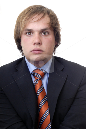 Stand stock photo, Young business man in a white background by Rui Vale de Sousa