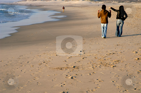 Couple stock photo, Couple in the beach in the north of portugal by Rui Vale de Sousa