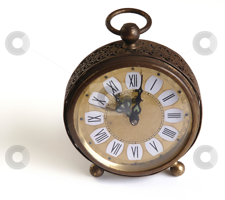 Clock stock photo, Old alarm clock isolated in a white background by Rui Vale de Sousa