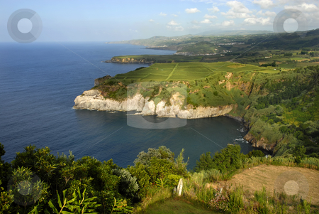 Azores stock photo, Azores coastal cliff at sao miguel island by Rui Vale de Sousa