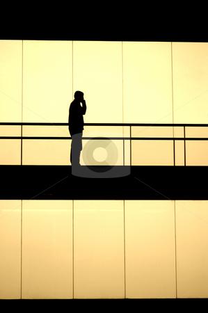 Silhouette stock photo, Man inside the building by Rui Vale de Sousa