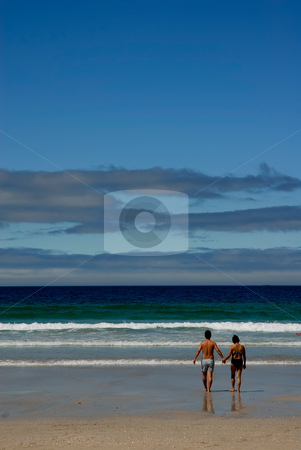 Couple stock photo, Couple at the beach at the north of portugal by Rui Vale de Sousa