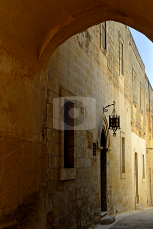 Arch stock photo, Ancient archway in the town of Mdina, Malta. by Rui Vale de Sousa