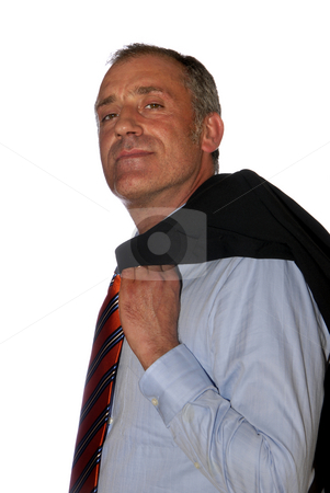 Male stock photo, Business man full of thoughts - isolated over a white background by Rui Vale de Sousa