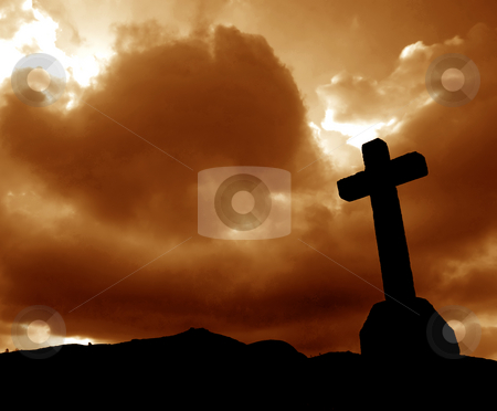 Cross stock photo, Cross silhouette and the clouds by Rui Vale de Sousa