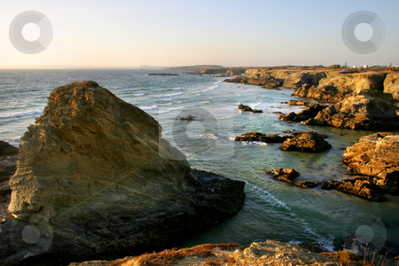 Coast stock photo, Coastal rocks at the south of portugal by Rui Vale de Sousa