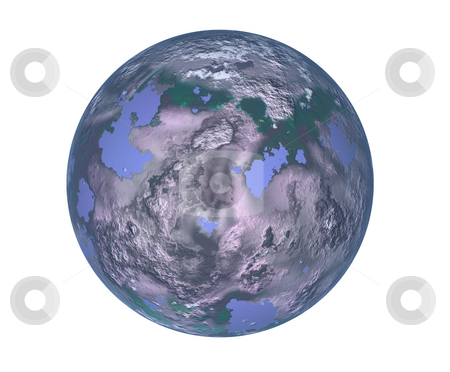 Globe stock photo, The future, pollution on planet earth, illustration by Rui Vale de Sousa