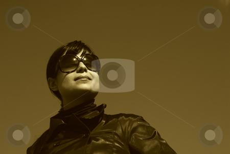 Portrait stock photo, Young casual girl portrait in the sun light by Rui Vale de Sousa