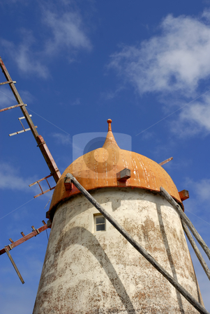 Windmill stock photo, Azores ancient windmill in s miguel island by Rui Vale de Sousa