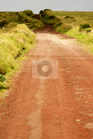 Red stock photo, Big red road in sao jorge island, azores by Rui Vale de Sousa