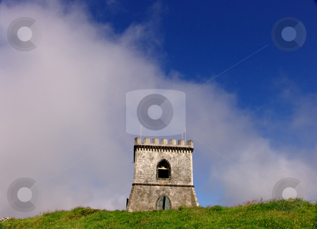 Castle stock photo, Azores white castle in the top of the hill by Rui Vale de Sousa