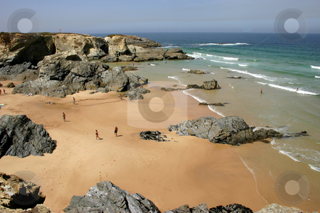 Beach stock photo, People on the beach by Rui Vale de Sousa