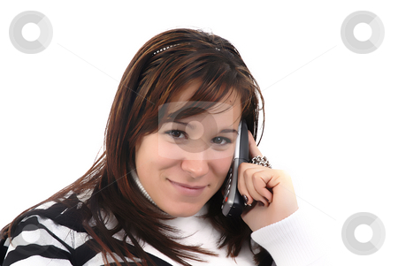Call stock photo, Close-up of young woman talking on a cell phone by Rui Vale de Sousa