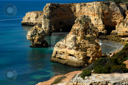 Cliff stock photo, Coastal cliff in the portuguese coast of Algarve by Rui Vale de Sousa