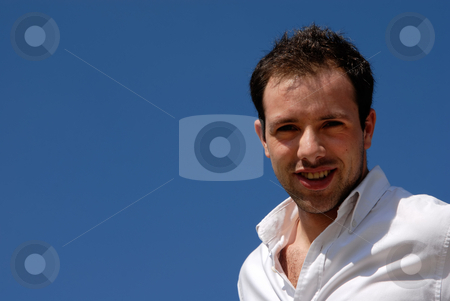 Portrait stock photo, Handsome young man with the sky in the background by Rui Vale de Sousa
