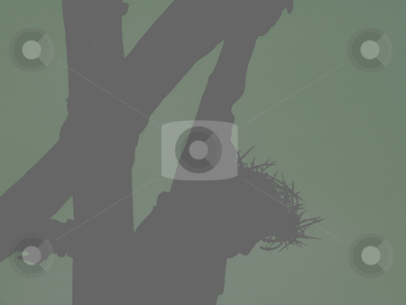 Crucifiction Silhoutte - Background - Pattern stock photo, Crucifiction Silhouette - Background - Pattern by Dazz Lee Photography