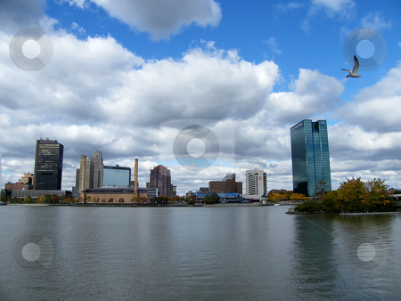 Toledo Ohio Skyline stock photo, Toledo Ohio Skyline, Oct. 2008. by Dazz Lee Photography