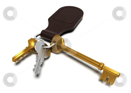 Keyring stock photo, 3D render of keys by Kirsty Pargeter