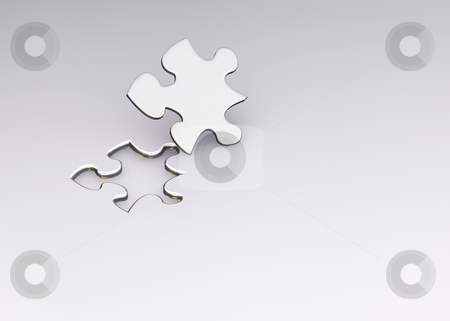 The missing piece stock photo, 3D render of a puzzle by Kirsty Pargeter