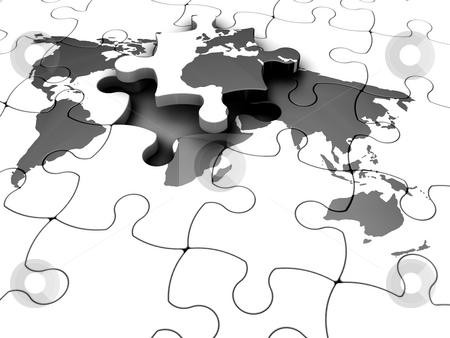 Puzzled World  stock photo,  by Kirsty Pargeter