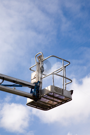 Crane Platform stock photo, A close up on an industrial elevated crane platform. by Travis Manley