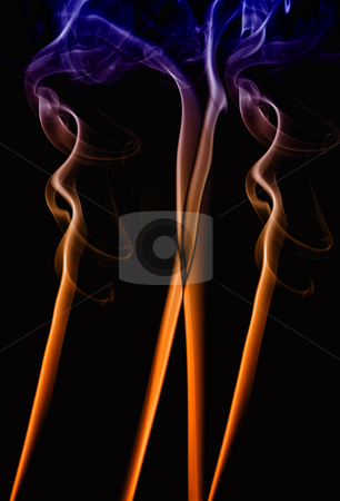 Smoke stock photo, Abstract colored smoke on a black background by Rui Vale de Sousa