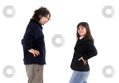 Couple stock photo, Young couple together isolated on white background by Rui Vale de Sousa