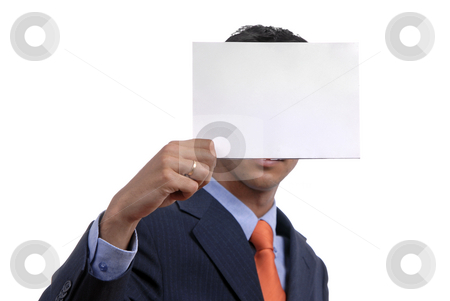 Card stock photo, Business man holding a card in his head by Rui Vale de Sousa