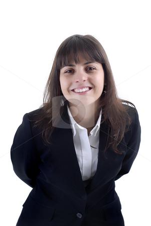 Portrait stock photo, Young business woman portrait in white background by Rui Vale de Sousa