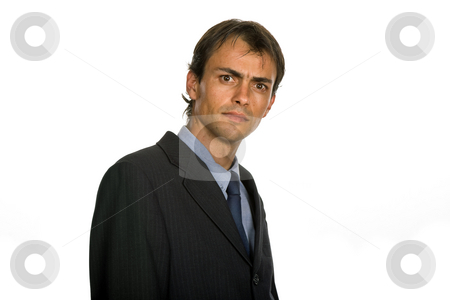 Portrait stock photo, Young business man portrait isolated on white by Rui Vale de Sousa