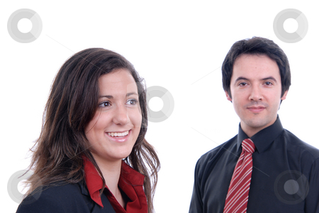 Couple stock photo, Business couple together isolated on white background by Rui Vale de Sousa
