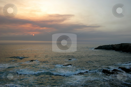 Sunset stock photo, Sunset at the sea by Rui Vale de Sousa