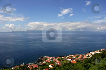 Village stock photo, Azores village on the coast by Rui Vale de Sousa