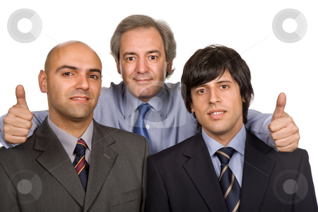 Workers stock photo, Three young business men isolated on white by Rui Vale de Sousa